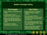 bush s foreign policy