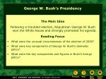george w bush s presidency