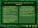 how did the united states respond to the attacks