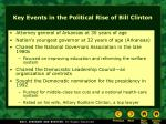 key events in the political rise of bill clinton