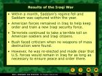 results of the iraqi war