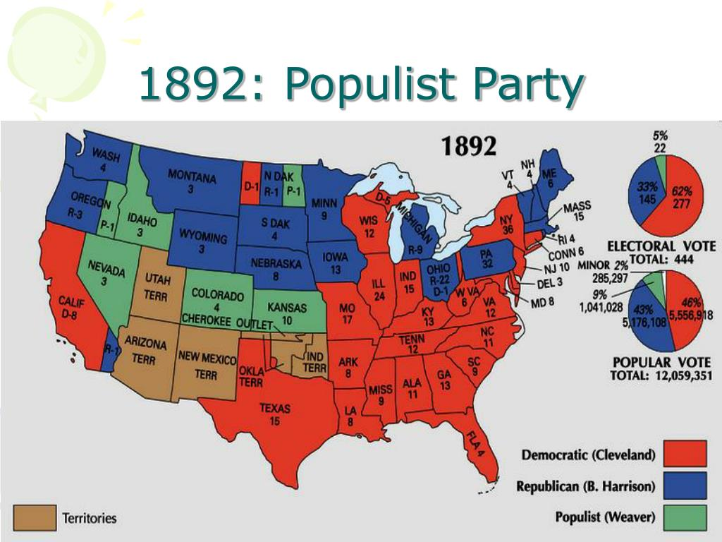 1892: Populist Party