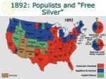 1892 populists and free silver