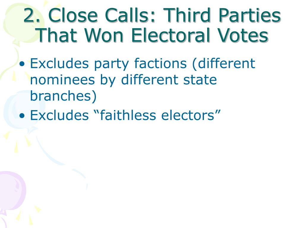 2. Close Calls: Third Parties That Won Electoral Votes