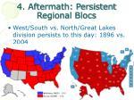 4 aftermath persistent regional blocs