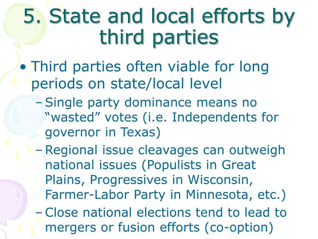 5. State and local efforts by third parties