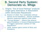 b second party system democrats vs whigs