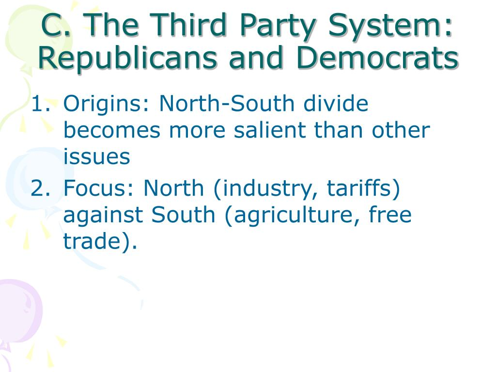 C. The Third Party System: Republicans and Democrats