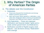 i why parties the origin of american parties