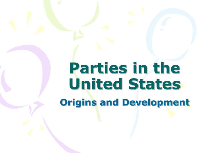 Parties in the united states
