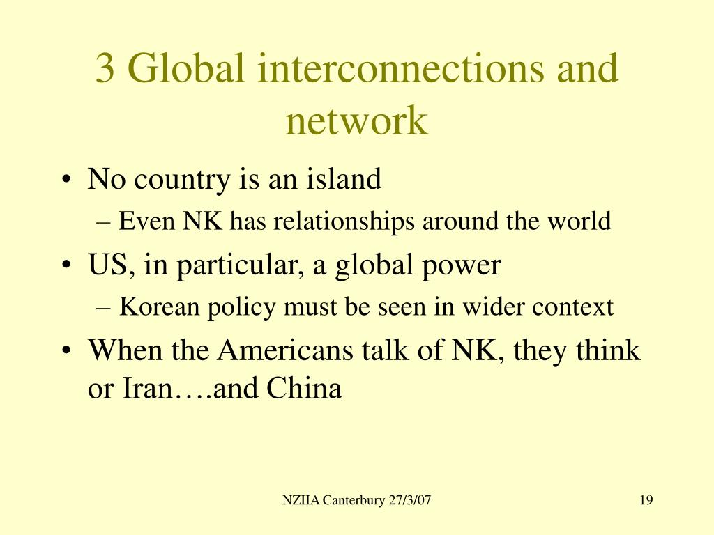 3 Global interconnections and network
