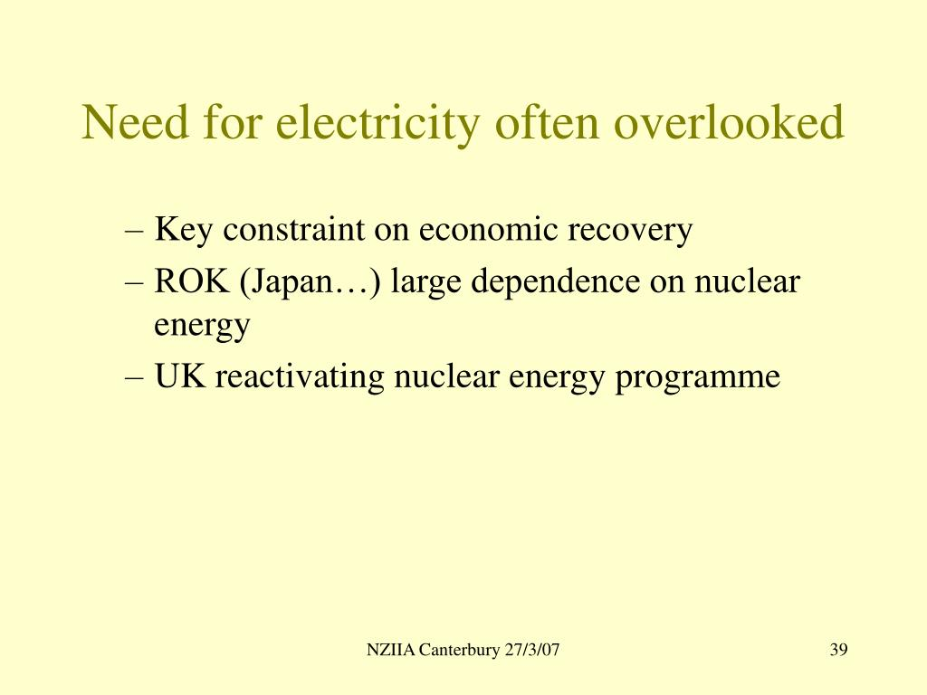 Need for electricity often overlooked