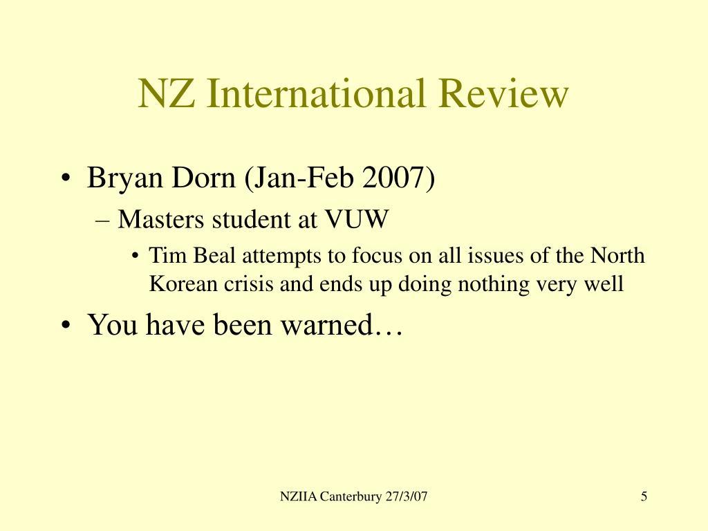 NZ International Review