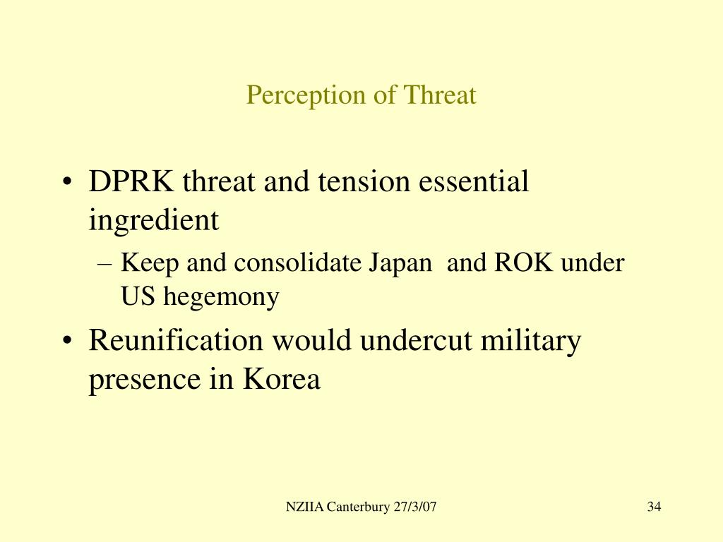 Perception of Threat
