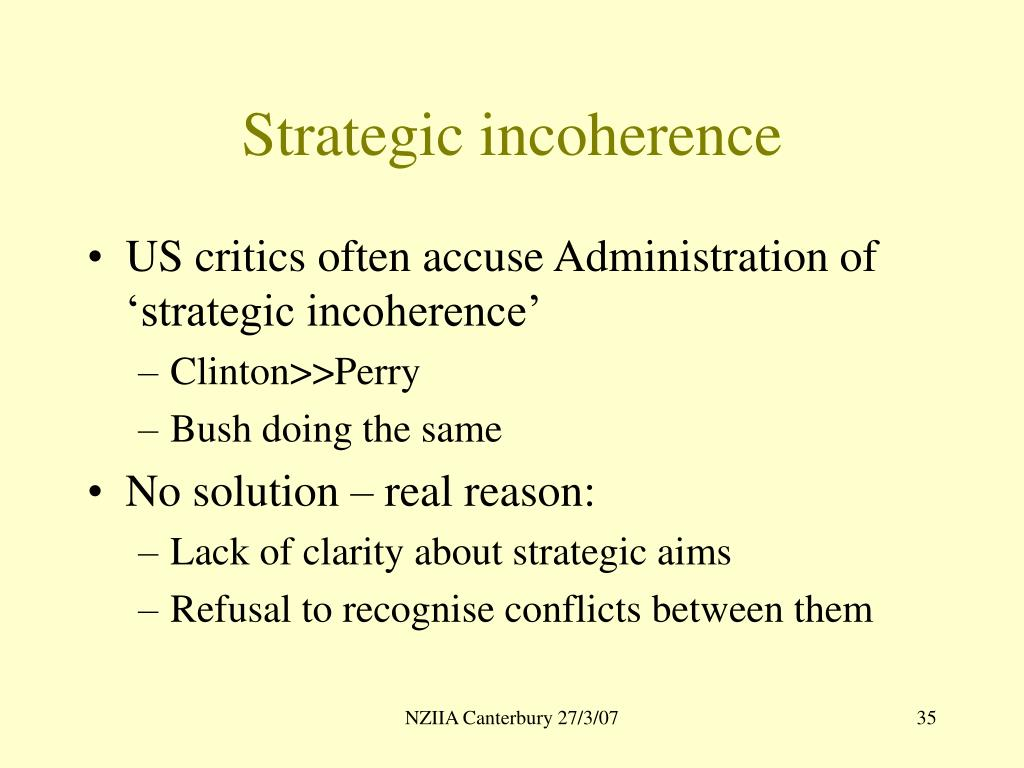 Strategic incoherence