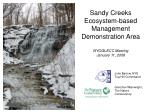 sandy creeks ecosystem based management demonstration area nyoglecc meeting january 11 2008