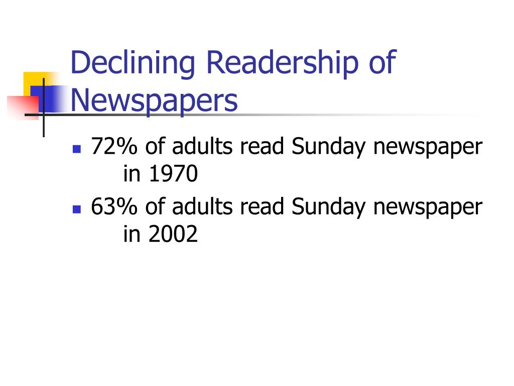 Declining Readership of Newspapers