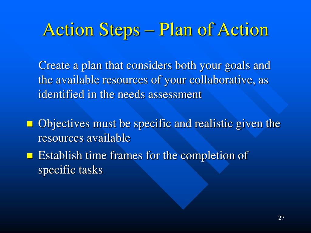 Action Steps – Plan of Action