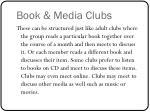 book media clubs