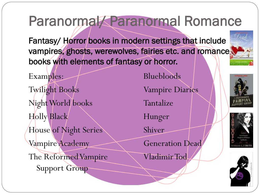 Paranormal/ Paranormal Romance