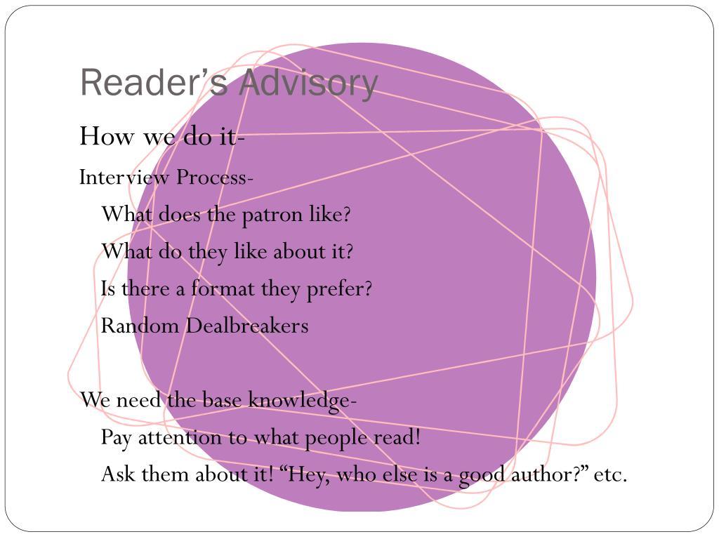 Reader's Advisory