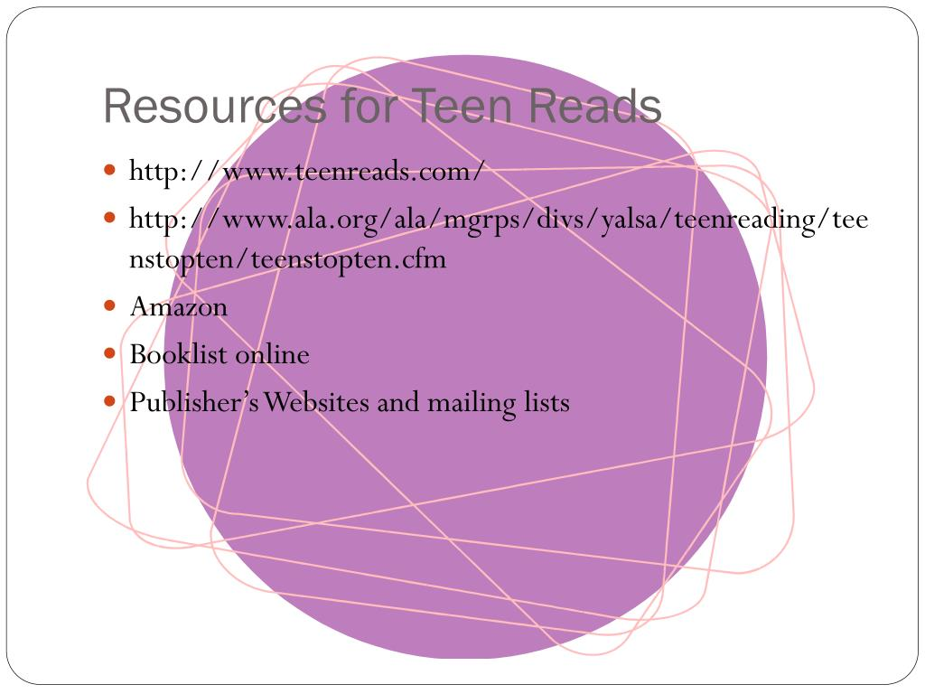 Resources for Teen Reads