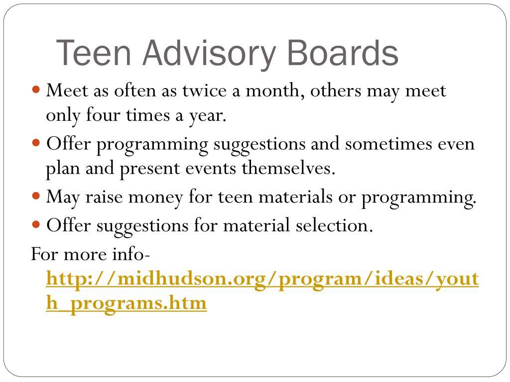 Teen Advisory Boards
