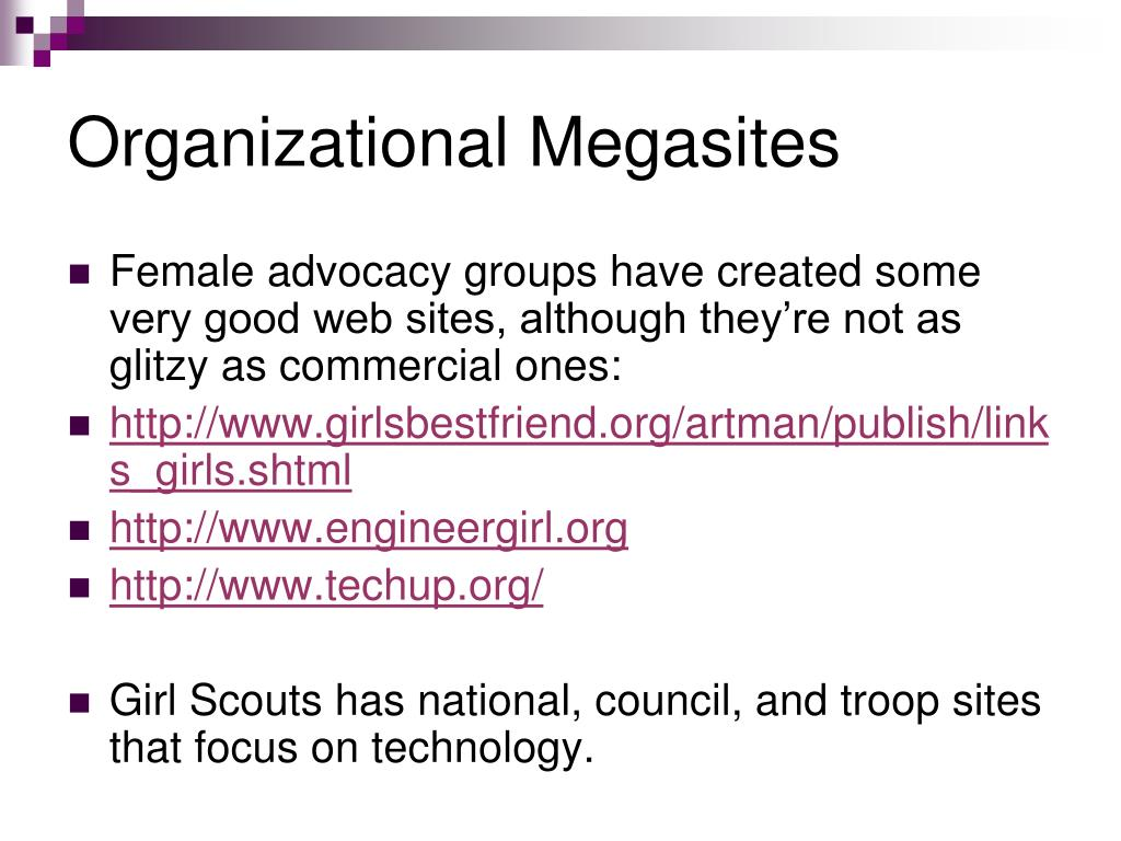 Organizational Megasites
