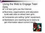 using the web to engage teen girls