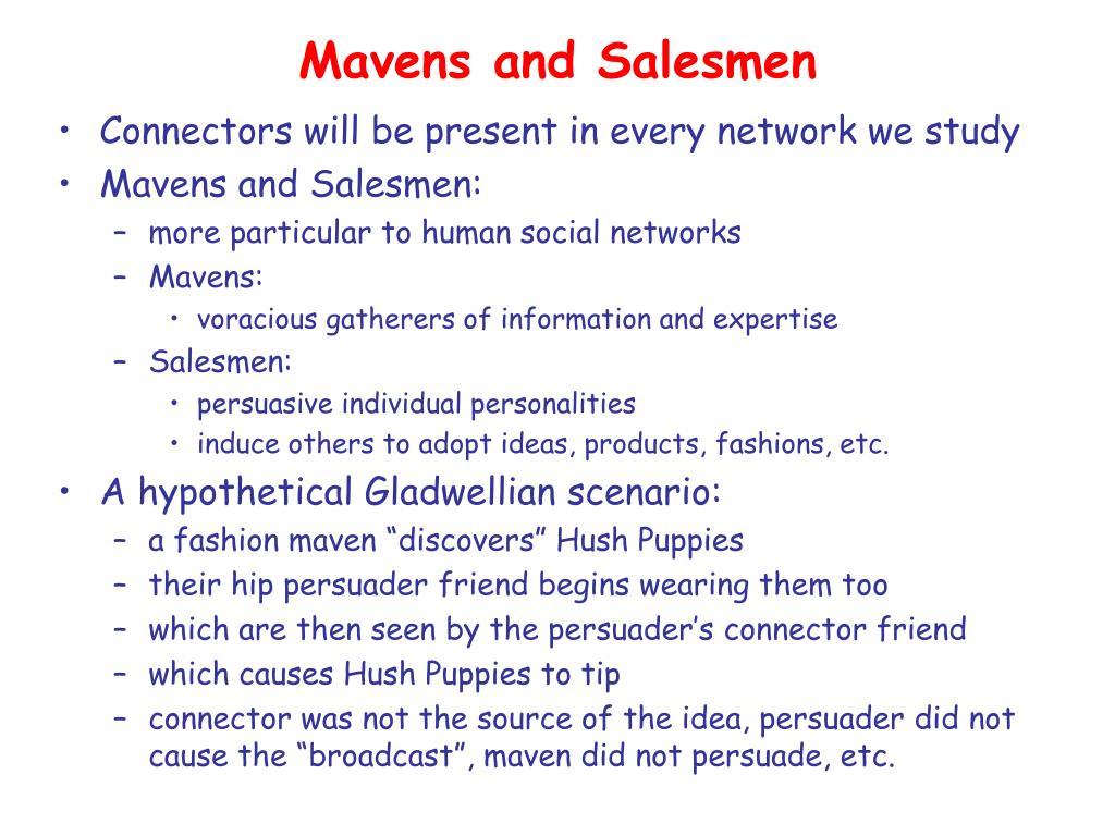 Mavens and Salesmen