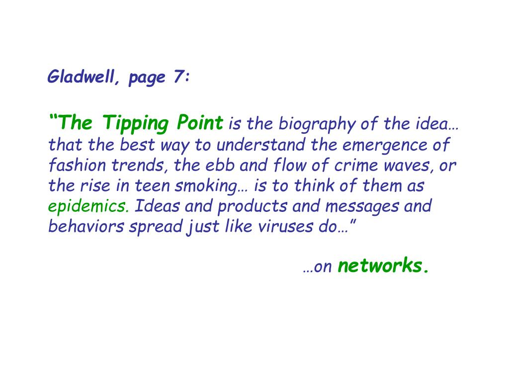 Gladwell, page 7: