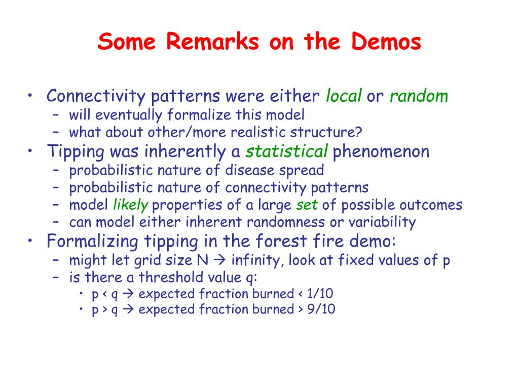 Some Remarks on the Demos