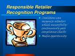 responsible retailer recognition programs