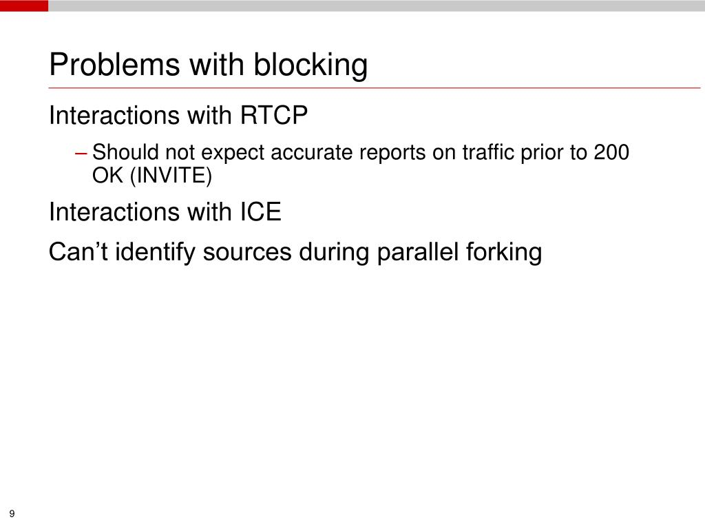 Problems with blocking
