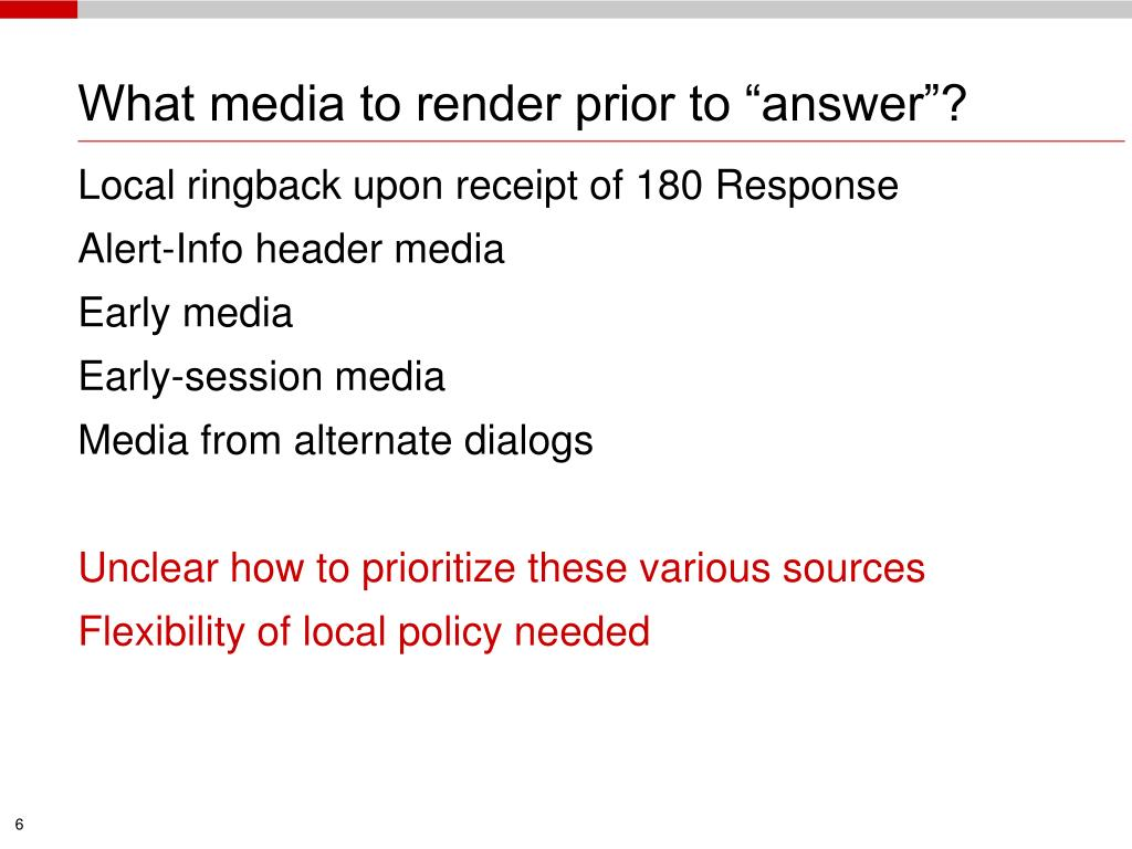 """What media to render prior to """"answer""""?"""