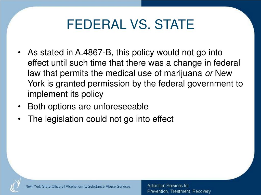 FEDERAL VS. STATE