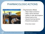 pharmacologic actions43