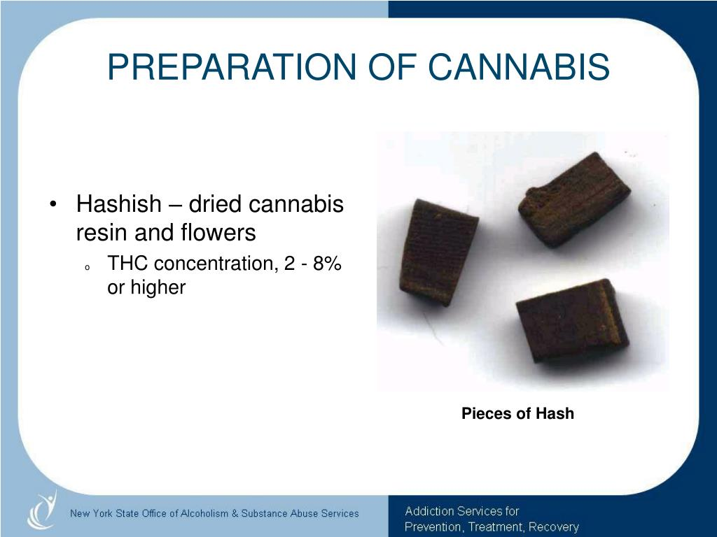 PREPARATION OF CANNABIS