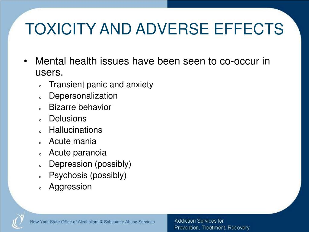 TOXICITY AND ADVERSE EFFECTS
