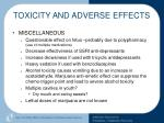 toxicity and adverse effects64