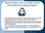 what does the future hold for medical marijuana