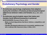 evolutionary psychology and gender