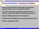 freud and erikson anatomy is destiny