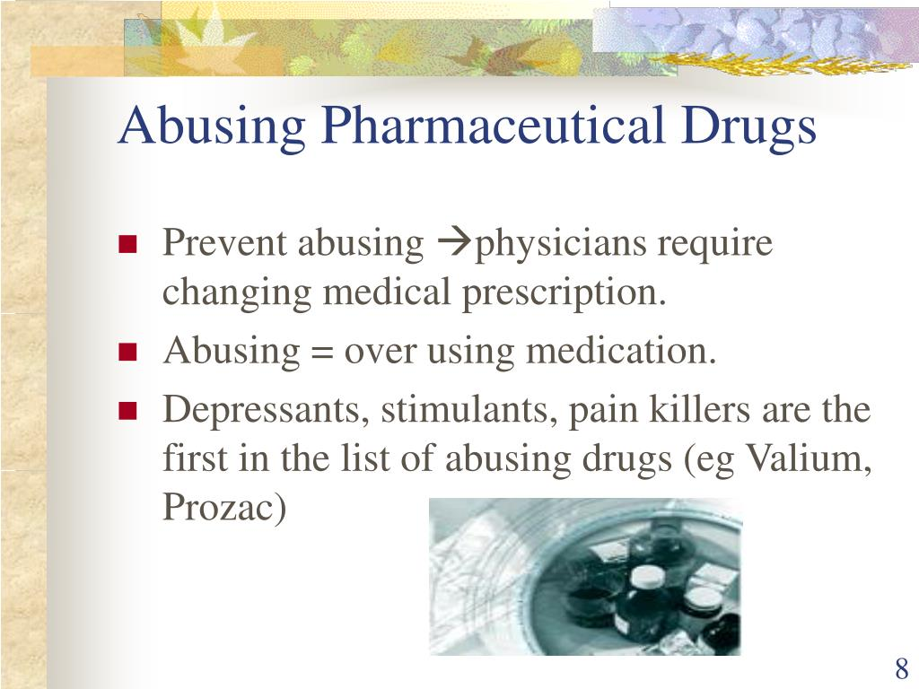 Abusing Pharmaceutical Drugs