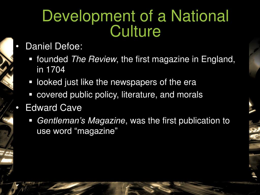 Development of a National Culture