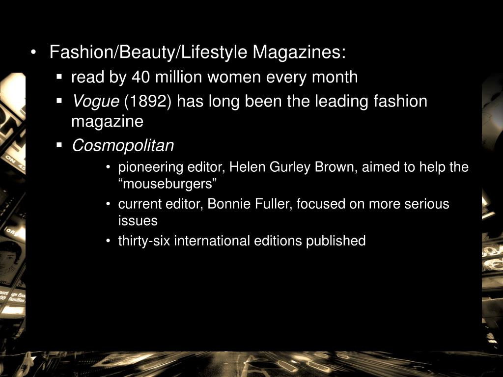 Fashion/Beauty/Lifestyle Magazines: