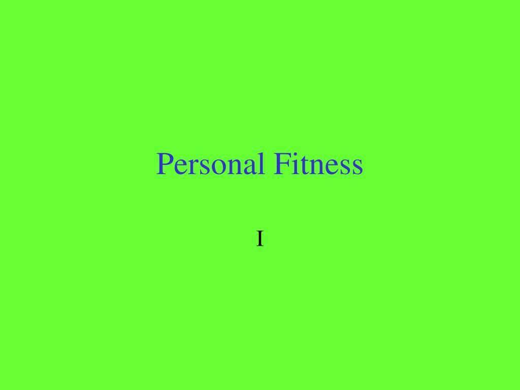 personal fitness l.