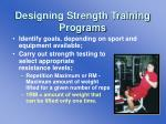 designing strength training programs
