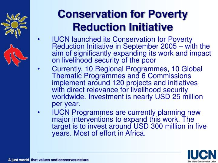 conservation for poverty reduction initiative n.