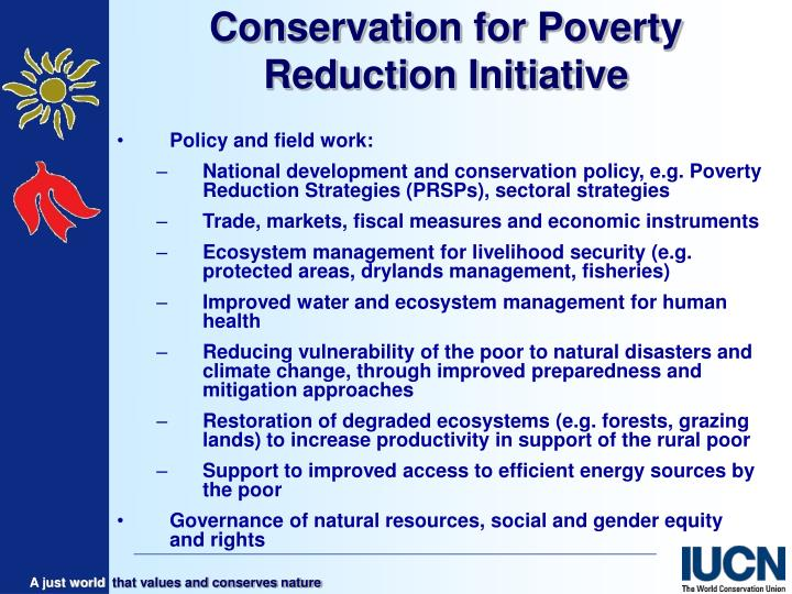Conservation for poverty reduction initiative1